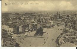 Courtrai -- La  Grand' Place  (Beffroi Et Hôtel-de-Ville).     (2 Scans) - Kortrijk