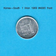 KOREA---South   1  WON  1969  (KM # 4a) - Korea, South