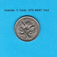 AUSTRALIA   5  CENTS  1976  (KM # 64) - Decimal Coinage (1966-...)