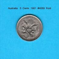 AUSTRALIA   5  CENTS  1981  (KM # 64) - Decimal Coinage (1966-...)