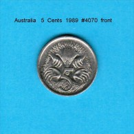 AUSTRALIA   5  CENTS  1989  (KM # 80) - Decimal Coinage (1966-...)