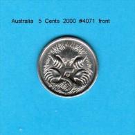 AUSTRALIA   5  CENTS  2000  (KM # 401) - Decimal Coinage (1966-...)