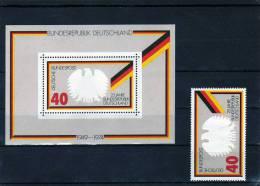 25 Jahre BRD 1974 Block 10 ** 3€ Bundesadler, Flagge Von Deutschland Jahrestag Der Gründung Der Bundesrepublik - Briefmarken