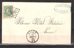 30 S/lettre De Gilly Pour Namur. - 1869-1883 Leopold II