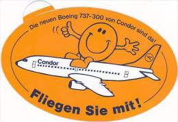 CONDOR BOEING 737-300 VINTAGE AVIATION LABEL - Baggage Labels & Tags