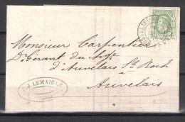 30 S/lettre De Gosselies-Courcelles Pour Auvelais. - 1869-1883 Leopold II