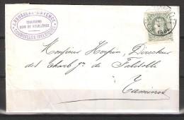 30 S/lettre De Gosselies-Courcelles Pour Tamines. - 1869-1883 Leopold II