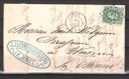 30 S/lettre De Jumet Pour Mons. - 1869-1883 Leopold II