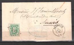 30 S/lettre De Iseghem Pour Anvers. - 1869-1883 Leopold II