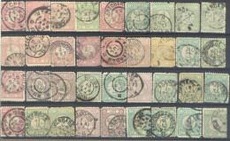 3Rv640: Restje Van 42 Zegels..... Om Verder Uit Te Zoeken....enkele Met Kleine Gebreken... - 1852-1890 (Wilhelm III.)