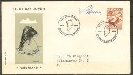 Czeslaw Slania. Greenland 1966. Legends. Michel 66, FDC. Signed. - Ohne Zuordnung