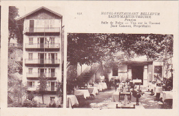 CPA 06 ST MARTIN VESUBIE Hotel Restaurant Bellevue - Saint-Martin-Vésubie