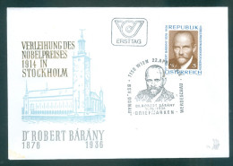 ÖSTERREICH - FDC Mi-Nr. 1509 - 100. Geburtstag Von Robert Bárány Stempel Wien (1) - FDC