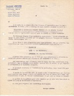 Lettre (1949) - Georges Lescure - Représentation- Exportation - PARIS (8ème) - 1900 – 1949