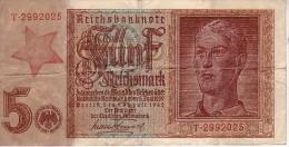 5  REICHSMARK  1942  AUFDRUCK   SLOWENISCHE  KOMMUNISTEN - [ 4] 1933-1945 : Troisième Reich