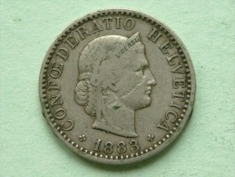 1883 B - 20 RAPPEN / KM 29 ( Uncleaned - For Grade, Please See Photo ) ! - Suisse
