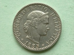 1885 B - 20 RAPPEN / KM 29 ( Uncleaned - For Grade, Please See Photo ) ! - Suisse