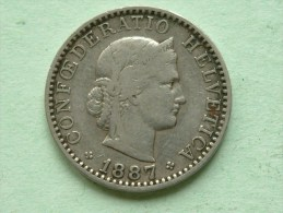 1887 B - 20 RAPPEN / KM 29 ( Uncleaned - For Grade, Please See Photo ) ! - Suisse