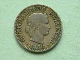 1880 B - 10 RAPPEN / KM 27 ( Uncleaned - For Grade, Please See Photo ) ! - Suisse