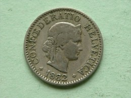 1882 B - 10 RAPPEN / KM 27 ( Uncleaned - For Grade, Please See Photo ) ! - Suisse
