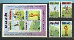 World Cup 1990. Italie.  Un BF + 4 T-p Neufs ** Du Malawi.  Côte 25,00 € - Wereldkampioenschap