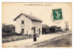 CPA (69) : BRINDAS : La Gare - Other Municipalities