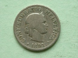 1894 B - 10 RAPPEN / KM 27 ( Uncleaned - For Grade, Please See Photo ) ! - Suisse