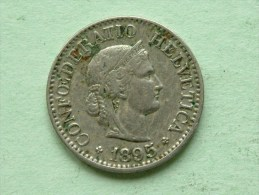 1895 B - 10 RAPPEN / KM 27 ( Uncleaned - For Grade, Please See Photo ) ! - Suisse
