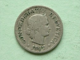1897 B - 10 RAPPEN / KM 27 ( Uncleaned - For Grade, Please See Photo ) ! - Suisse