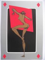 Illustration Zacot  FEMME Nue   De La Série JEUX DE DAMES  As De Carreau    2003 - Zacot, Fernand