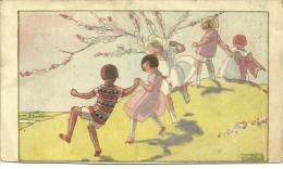 Groupe D'enfants Dansant Dans La Campagne. - Scenes & Landscapes