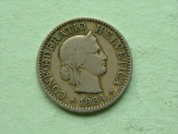 1884 B - 5 RAPPEN / KM 26 ( Uncleaned - For Grade, Please See Photo ) ! - Suisse