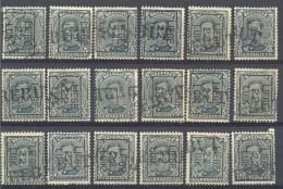 3Rv637: Restje Van 18zegels. Met REBUT-stempels.... Om Verder Uit Te Zoeken.... - Precancels