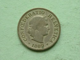 1889 B - 5 RAPPEN / KM 26 ( Uncleaned - For Grade, Please See Photo ) ! - Suisse