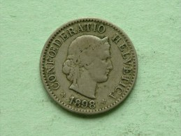 1898 B - 5 RAPPEN / KM 26 ( Uncleaned - For Grade, Please See Photo ) ! - Suisse