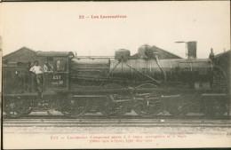 Les Locomotives -  Est Série 10  - Loco Compound Mixte Série  N° 3419 - Trains