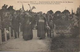 02 CHAMBRY Guerre 1914-17 Anniversaire De La Bataille De La Marne , L'Archevêque De Paris Au Cimetière - France
