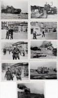 DIEPPE (76)  9 PHOTOS 9X6 CMS DU 19 AOUT 1942 - SCENES DE GUERRE - Guerre, Militaire