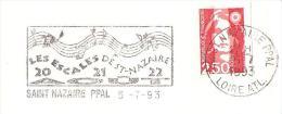 CACHET OBLITERATION FLAMME EMA SAINT NAZAIRE LES ESCALES  ENVELOPPE 22X11 - Marcophilie (Lettres)