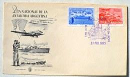 ARGENTINE MANCHOTS, PINGOUINS, Philatelie Polaire, FDC  Premier Jour 27/02/1965 - Penguins