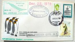 ARGENTINE MANCHOTS, PINGOUINS, Baleine, Philatelie Polaire, 40 Th Antartic Tourist Expedition 26/12/78 - Penguins