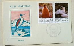 ARGENTINE MANCHOTS, PINGOUINS, Philatelie Polaire, FDC  Premier Jour 31/05/1986 - Penguins