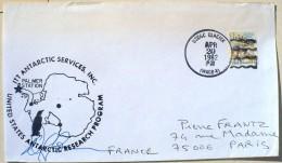 ETATS UNIS , Obliteration Thematique Polaire, MANCHOTS, PINGOUINS (PALMER STATION) 20/04/1982 - Penguins
