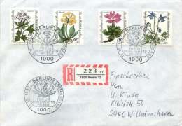 1983 Alpenblumen  MiNr 703-6 - Berlin (West)