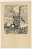 Moulin A Vent  Windmill Art Card - Denmark