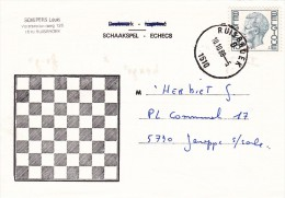 a27 - carte postale sur les jeux d'�checs de 1988