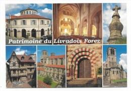 CPM - PATRIMOINE DU LIVRADOIS FOREZ (63) Mairie D'Ambert, Nef De L'église Saint-Genés De Thiers, Croix De Tyr - Non Classés