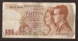 België 50 Frank 14-5- 1966 -NO: 560 Y 5585. - [ 6] Staatskas