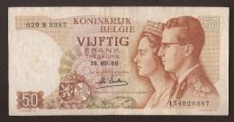 België 50 Frank 14-5- 1966 -NO 620 S 9387. - [ 6] Treasury