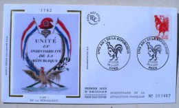 FRANCE Coq , Gallinacé. Yvert 2774. FDC Enveloppe 1er Jour Sur Soie. 26/09/1992 - Gallinacées & Faisans